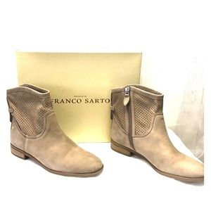 Franco Sarto Perforated Booties